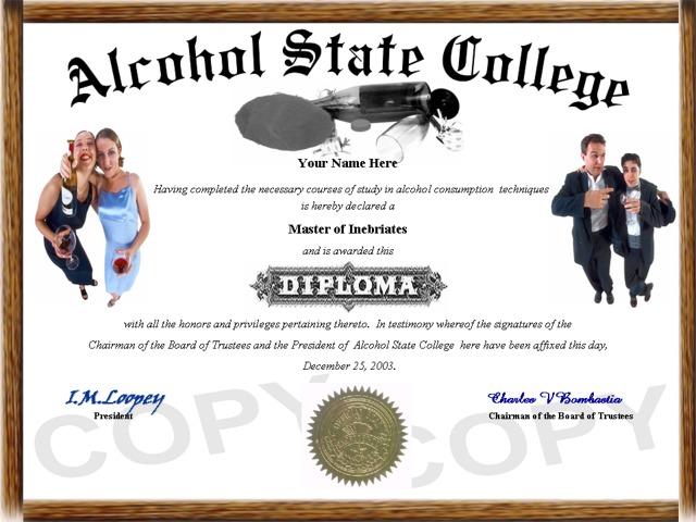 Drinking Diploma Degree Gifts Click Any Custom
