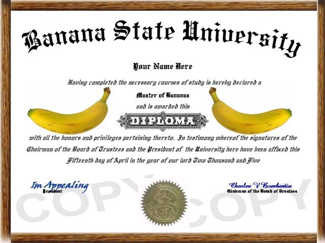 funny fake diploma
