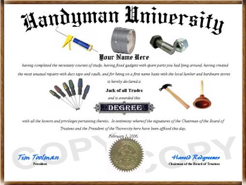 Humorous Diplomas