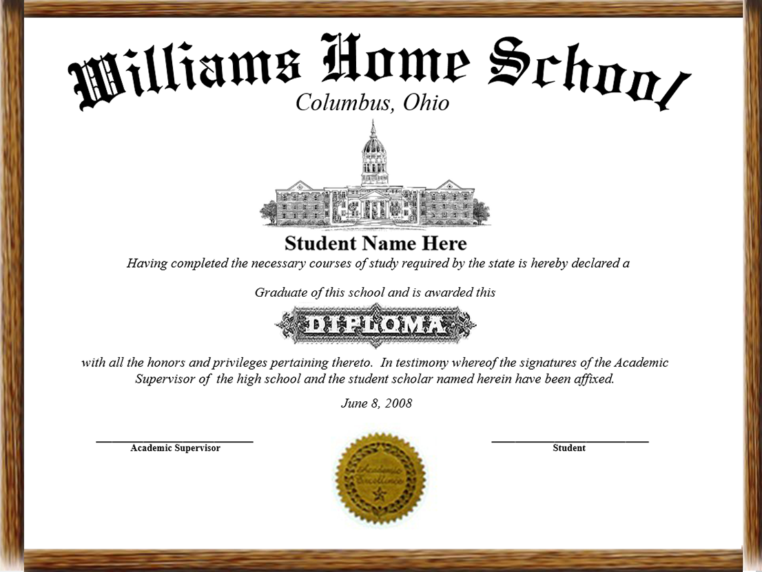 Printable homeschool diploma template pictures to pin on for Diplomas and certificates templates