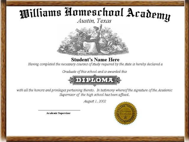 High school diploma for homeschool free high school for Free fake high school diploma templates