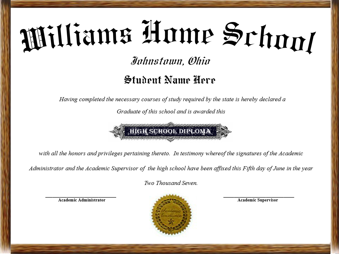 high school diplomas Graduates may request a replacement of their high school diploma by completing  a copy of the diploma request form below, then mailing the form along with.