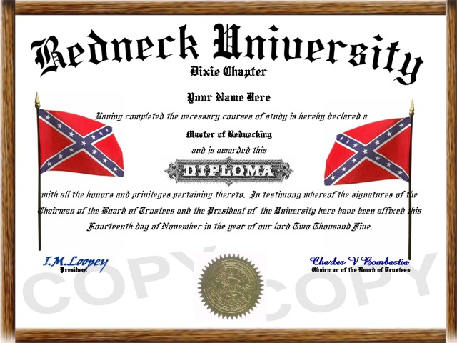 http://www.diplomastore.com/images/redneck1.jpg